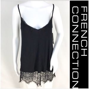 NWT French Connection Long Lace Cami